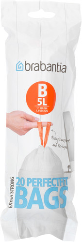 Brabantia Afvalzak Code B - 5 Liter (20 stuks) Main Image