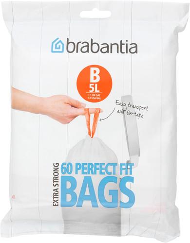 Brabantia Vuilniszakken Code B - 5 Liter (60 stuks) Main Image