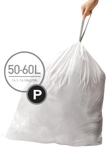 Simplehuman Afvalzakken Code P - 50-60 Liter (20 stuks) Main Image