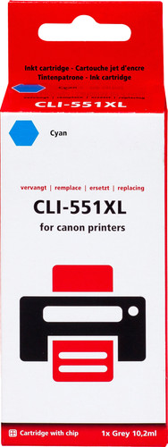 Pixeljet CLI-551XL Cartridge Cyaan Main Image