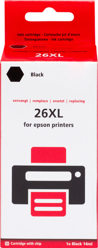 Pixeljet 26XL Cartridge Zwart Main Image
