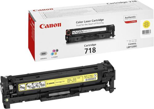 Canon 718 Toner Cartridge Yellow Main Image