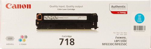 Canon 718 Toner Cyaan Main Image