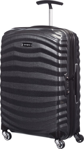 Samsonite Lite-Shock Spinner 55cm Black Main Image