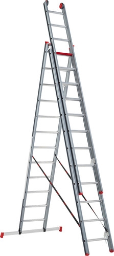 Altrex Atlantis 3-part reform ladder ATR 3077 3x12 Main Image