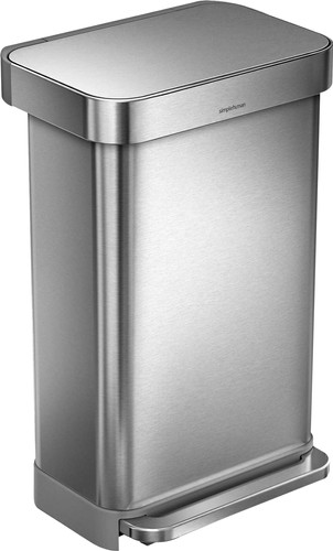 Simplehuman Rectangular Liner Pocket 45 Liter RVS Main Image