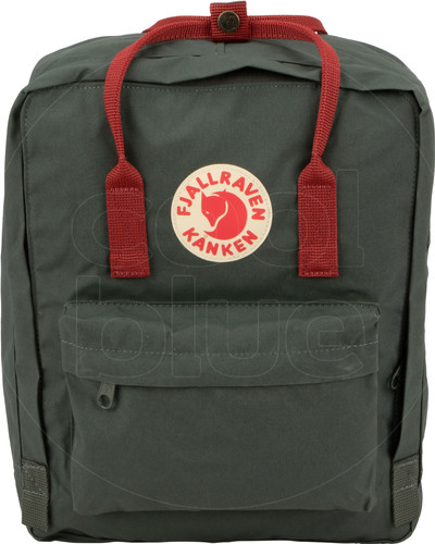 Fjällräven Kånken Forest Green / Ox Red 16L Main Image