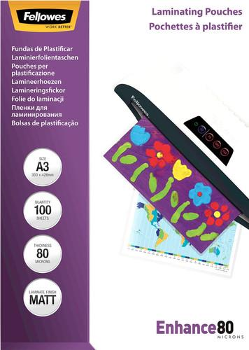 Fellowes Lamineerhoezen Enhance Mat 80 mic A3 (100 Stuks) Main Image