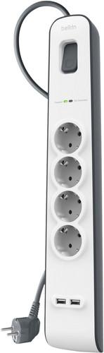 Belkin Surge Protector 4 Outlet 2 meter 2x usb Main Image