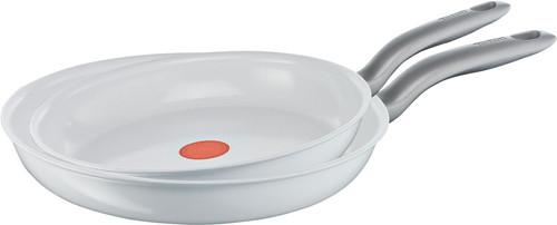 Tefal Ceramic Control White Induction Koekenpanset 24 + 28 cm Main Image
