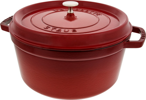 Staub Round Dutch Oven 28cm Cerise Coolblue Before 23 59 Delivered Tomorrow