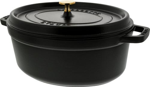 Staub Ovale Stoof-/Braadpan 31 cm Zwart Main Image