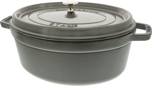 Staub Ovale Stoof-/Braadpan 31 cm Grafietgrijs Main Image
