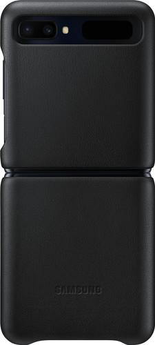 Samsung Galaxy Z Flip Back Cover Leer Zwart Main Image