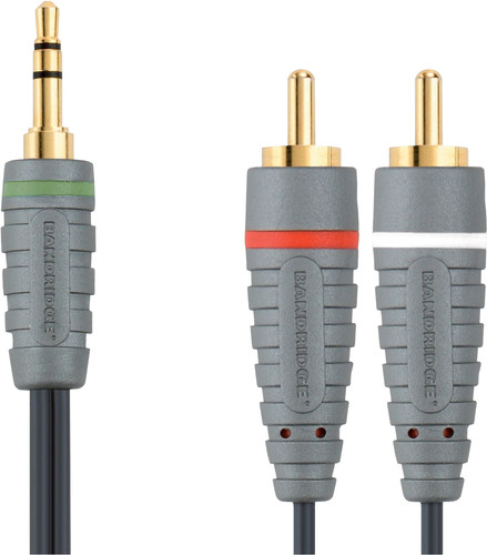 Bandridge 3,5 mm naar RCA Kabel 1 Meter Main Image