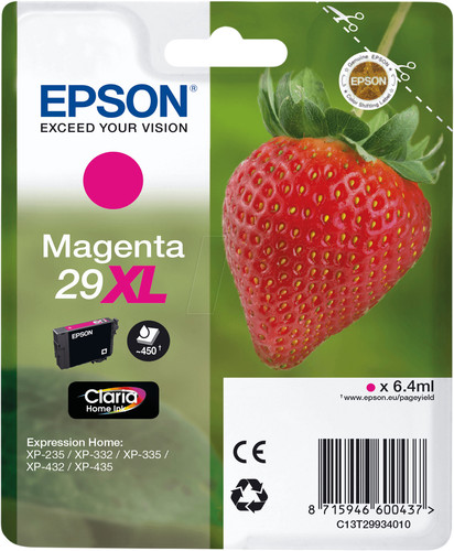 Epson 29XL Cartridge Magenta Main Image