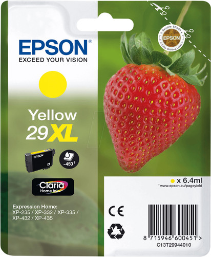 Epson 29XL Cartridge Yellow Main Image