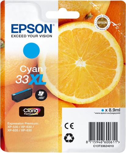 Epson 33 Cartridge Cyan XL (C13T33624010) Main Image