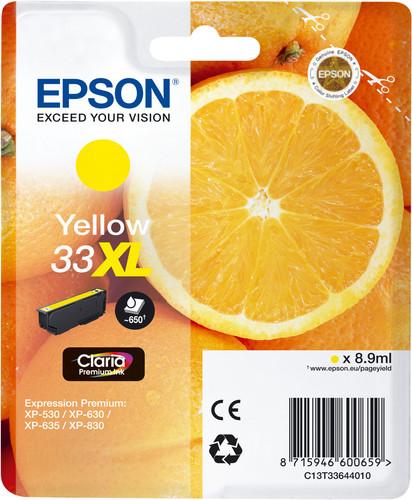 Epson 33XL Cartridge Yellow Main Image