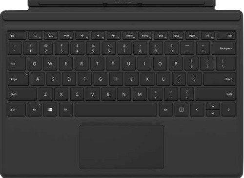 Microsoft Surface Pro Type Cover QWERTY Black Main Image