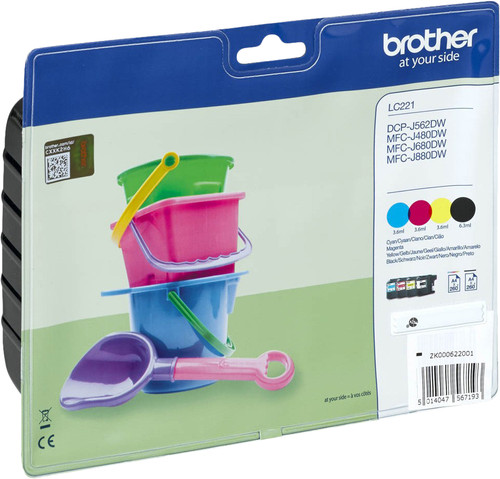Brother LC-221 Cartridges Combo Pack Main Image