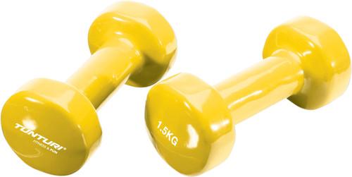 Tunturi Vinyl Dumbbells 2x 1,5 kg Yellow Main Image