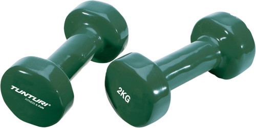 Tunturi Vinyl Dumbbells 2x 2 kg Green Main Image