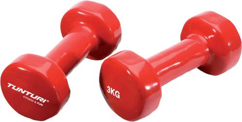Tunturi Vinyl Dumbbells 2x 3 kg Red Main Image