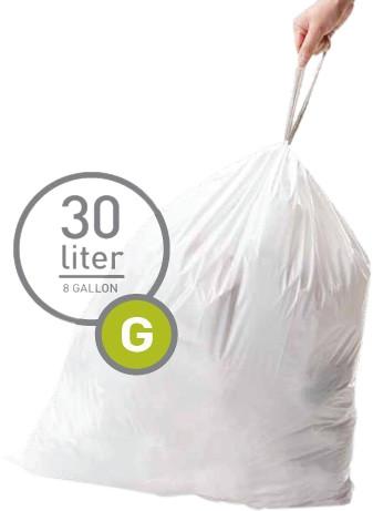 Simplehuman Vuilniszakken Code G - 30 Liter (60 stuks) Main Image