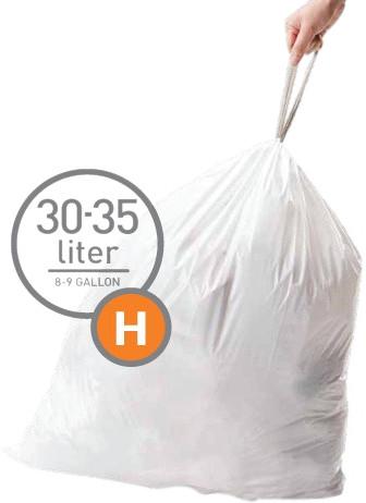 Simplehuman Vuilniszakken Code H - 30-35 Liter (60 stuks) Main Image