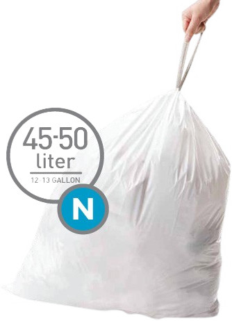 Simplehuman Afvalzakken Code N - 45-50 Liter (60 stuks) Main Image