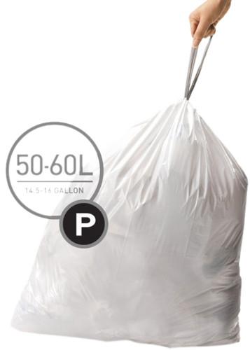 Simplehuman Afvalzakken Code P - 50-60 Liter (60 stuks) Main Image