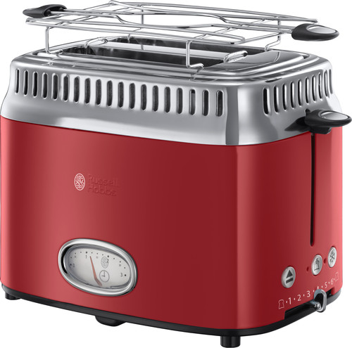 Russell Hobbs Retro Ribbon Red Toaster Main Image