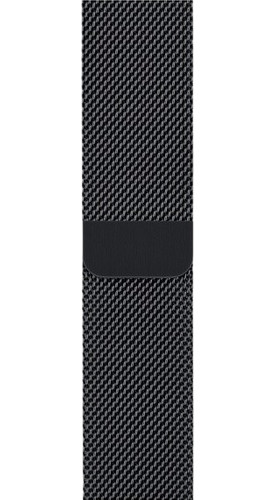 Apple Watch 42mm Watch Strap Milanese Space Black Main Image
