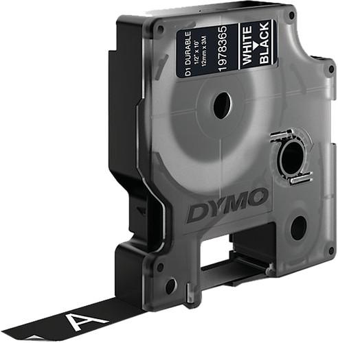 Dymo LW Duurzame D1 Label Wit-Zwart (12 mm x 3 m) Main Image