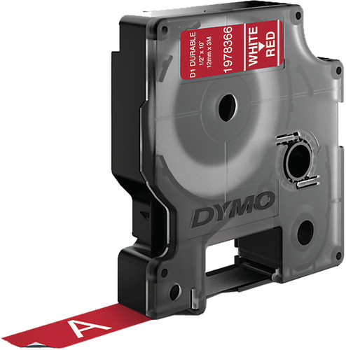 Dymo LW Duurzame D1 Label Wit-Rood (12 mm x 3 m) Main Image