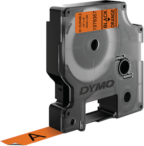 Dymo LW Durable D1 Label Black-Orange (12 mm x 3 m) Main Image