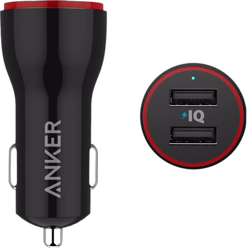 Anker PowerDrive Autolader Dual USB 4,8A Zwart Main Image