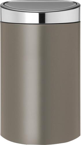 Brabantia Touch Bin 40 Liter Platinum / Matt Steel deksel Main Image