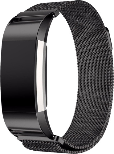 Just in Case Fitbit Charge 2 Milanese Watchband Black Main Image