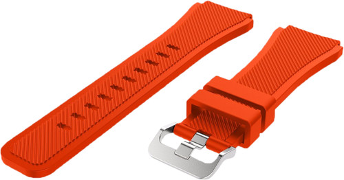 Just in Case Samsung Gear S3 Silicone Watchband Orange Main Image