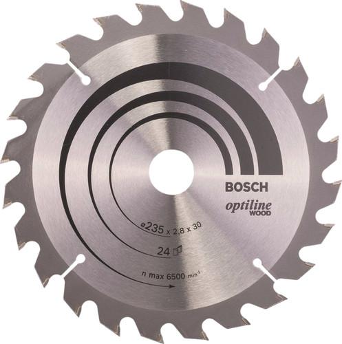 Bosch Cirkelzaagblad Optiline Wood 235x2,8x30 24T Main Image