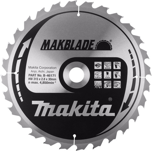 Makita Zaagblad 315x30x2,8 48T Main Image