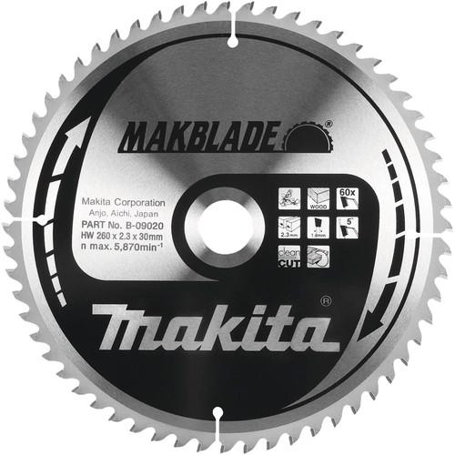 Makita Zaagblad Hout 260x30x2,3mm 80T Main Image