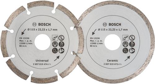 Bosch Diamond disc 115 mm 2 pieces Main Image