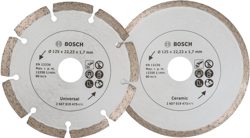 Bosch Diamantschijf 125 mm 2 stuks Main Image