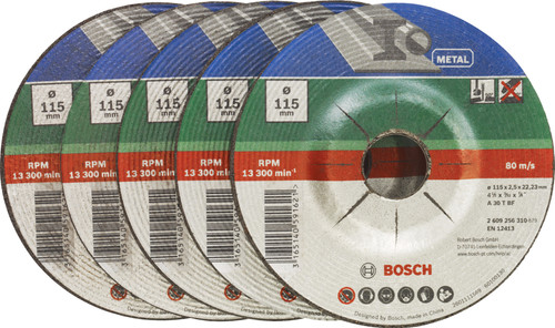 Bosch Grinding disc Metal 115 mm 5 pieces Main Image