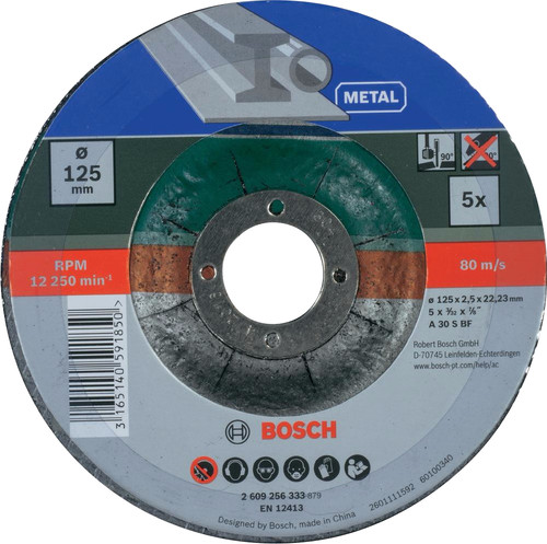 Bosch Grinding Disc Metal Disc 125mm 5 units Main Image