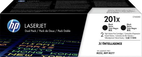 HP 201X Toner Zwart XL Duo Pack (CF400XD) Main Image