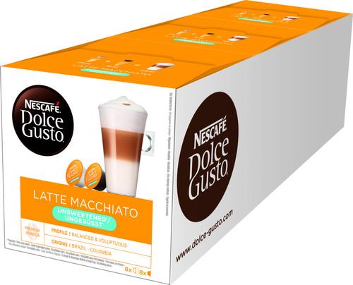 Dolce Gusto Latte Macchiato Unsweetened 3 pack Main Image